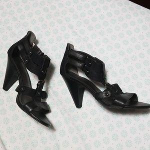 NWOT Strappy Black Sandals